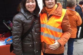 Die Kommunale Frauenbeauftragte S. Veit-Prang und Zontapräsidentin B. Riemann